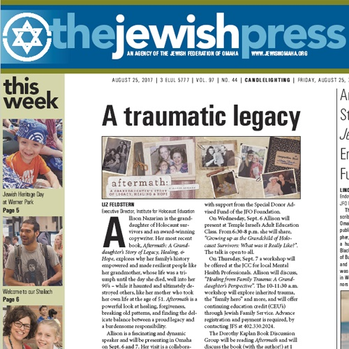 Aftermath Featured In Omaha Jewish Press
